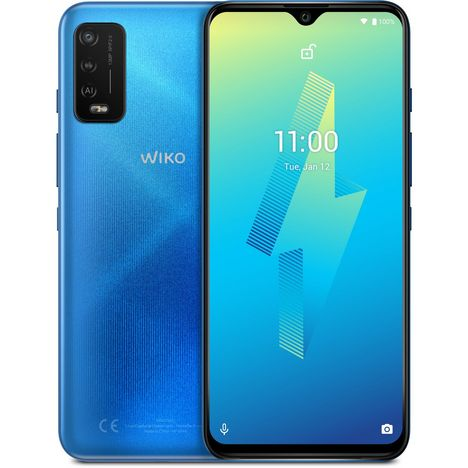 WIKO Smartphone Power U10  4G  32 Go  6.82 pouces  Bleu  Double Nano Sim