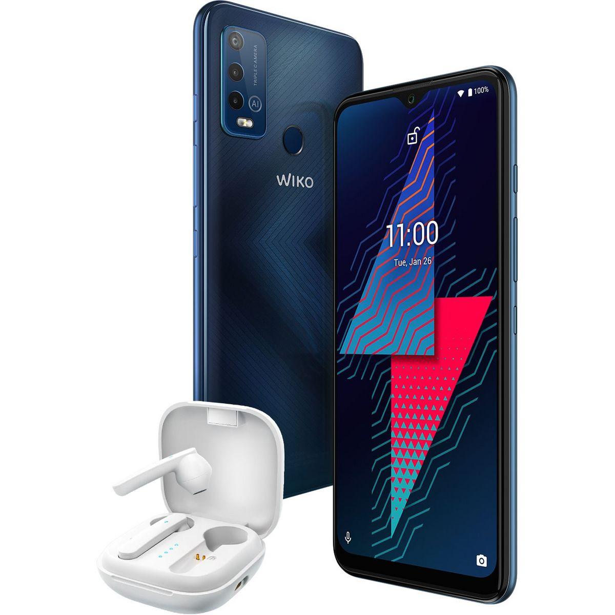 Smartphone Power U30 4G 128 Go 6.82 pouces Noir + Ecouteurs WiBuds Pocket blancs
