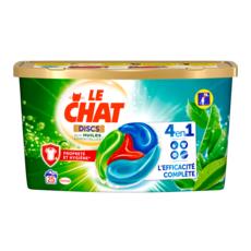 LE CHAT Disc Lessive en capsules 4en1 aux huiles essentielles 25 lavages 625g