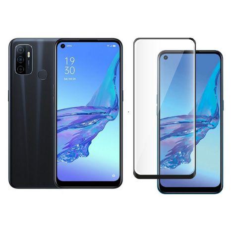 OPPO Smartphone A53  4G  64 Go  6.5 pouces  Noir + Protège écran verre trempé