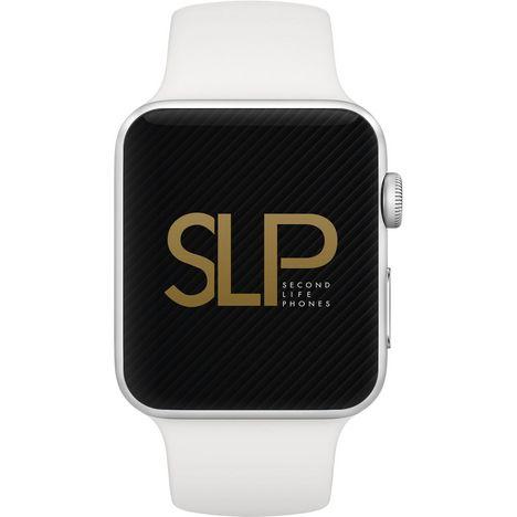 APPLE Watch 38MM Alu gris/ bracelet blanc Series 3 - Montre connectée - Reconditionnée Grade B - SPL