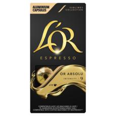 L'OR Capsules de café or absolu compatibles Nespresso 10 capsules 52g