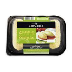 GIRAUDET Quenelle nature pur beurre 4 pièces 4x80g