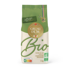 GRUAU D'OR Farine de blé T65 bio 1kg