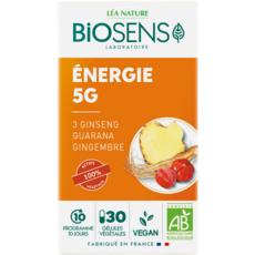 BIOSENS Complément alimentaire énergie 5G gélules à base de plantes 30 gélules 13g