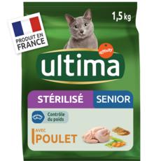 ULTIMA Croquettes au poulet pour chat stérilisé senior 1,5kg