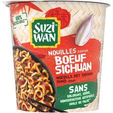 SUZI WAN Nouilles saveur bœuf Sichuan   1 personnes 64.5g
