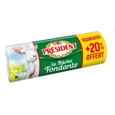 PRESIDENT Bûche fondante au lait de chèvre pasteurisé 250g + 20% gratuit