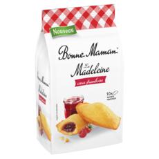 BONNE MAMAN Madeleines à la framboise; sachet individuels 10 madeleines 300g
