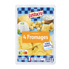 LUSTUCRU Ravioli 4 Fromages 2 portions 305g