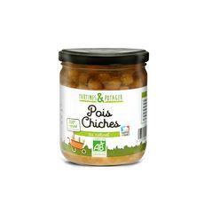 TARTINES & POTAGER Pois chiches bio 100% naturel sans conservateur fabriqué en France 310g