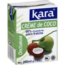 KARA Crème de coco onctueuse, 90% d'extrait de coco fraîche 200ml