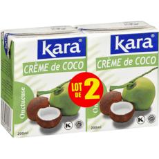 KARA Crème de coco onctueuse 2 pièces 2x200ml