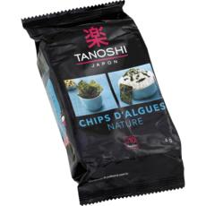 TANOSHI Chips d'algues nature environ 10 feuilles 4g