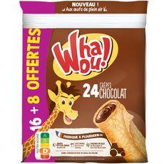 WHAOU Crêpes fourrées au chocolat 16+8 offertes 768g