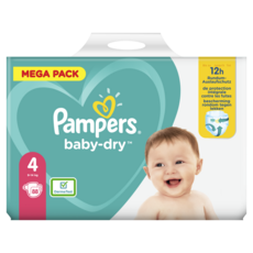 PAMPERS Baby-dry couches taille 4 (9 à 14kg) 88 couches