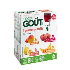 Good Goût GOOD GOUT Gourdes dessert multifruits bio dès 4 mois