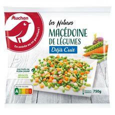 AUCHAN Macédoine de légumes cuite 750g