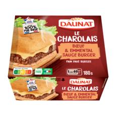 DAUNAT Burger charolais et emmental 180g