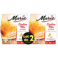 MARIE Cordon bleu et coquillettes emmental 2x280g