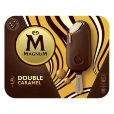 MAGNUM Bâtonnet glacé double caramel 4 pièces 292g