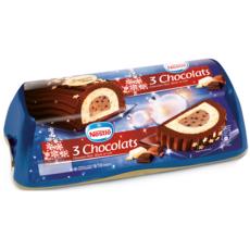 NESTLE Bûche glacée aux 3 chocolats 9-10 parts 540g