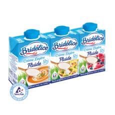 BRIDELICE Crème fluide légère 12%MG UHT 3x20cl