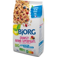 BJORG Crousti' avoine superfruits cassis cranberry myrtille bio 500g
