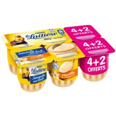 LA LAITIERE Semoule au lait aromatisée à la vanille 6x115g