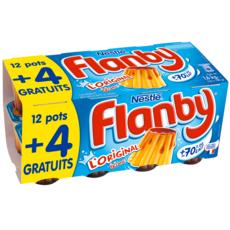 FLANBY Flan nappés au caramel 12+4 offerts