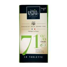 LE PETIT CARRE Tablette de chocolat noir bio grand cru 71% de cacao 1 pièce 90g