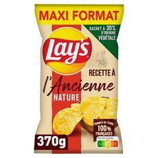 LAY'S Chips recette à l'ancienne nature maxi format 370g