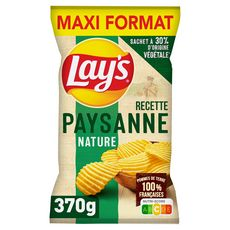 LAY'S Chips recette paysanne nature maxi format 370g