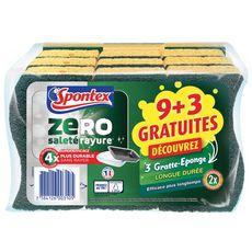 SPONTEX Gratte-éponge longue durée 9+3 offerts