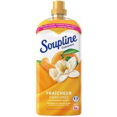 SOUPLINE Assouplissant liquide concentré mandarine et note de vanille 56 lavages 1,2l