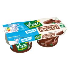 VRAI Crème dessert chocolat au lait de brebis bio 2x125g