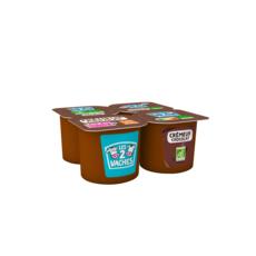LES 2 VACHES Crème dessert bio chocolat 4x95g