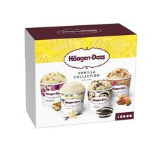 HAAGEN DAZS Mini pôts vanilla collection 4 pièces 320g