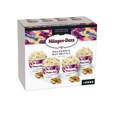 Häagen-Dazs HAAGEN DAZS Mini pot de crème glacée macadamia collection
