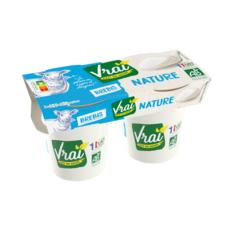 VRAI Yaourt nature bio au lait de brebis 2x125g