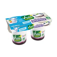 VRAI Yaourt bio sur lit de myrtille au lait de brebis 2x125g