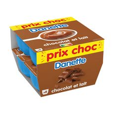 DANETTE Crème dessert au chocolat au lait 8x125g