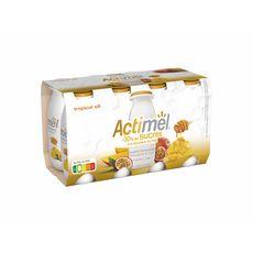 ACTIMEL Lait fermenté à boire mangue passion miel -30% de sucres 8x100g