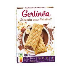 GERLINEA Barres repas équilibré chocolat saveur noisette 8x45g 360g