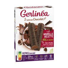 GERLINEA Repas minceur saveur chocolat riches en protéines 6x62g 372g