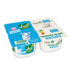 VRAI Fromage blanc au lait de brebis bio 4x100g