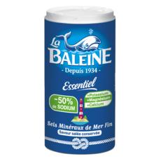 LA BALEINE Sel de mer fin -50% de sodium 350g