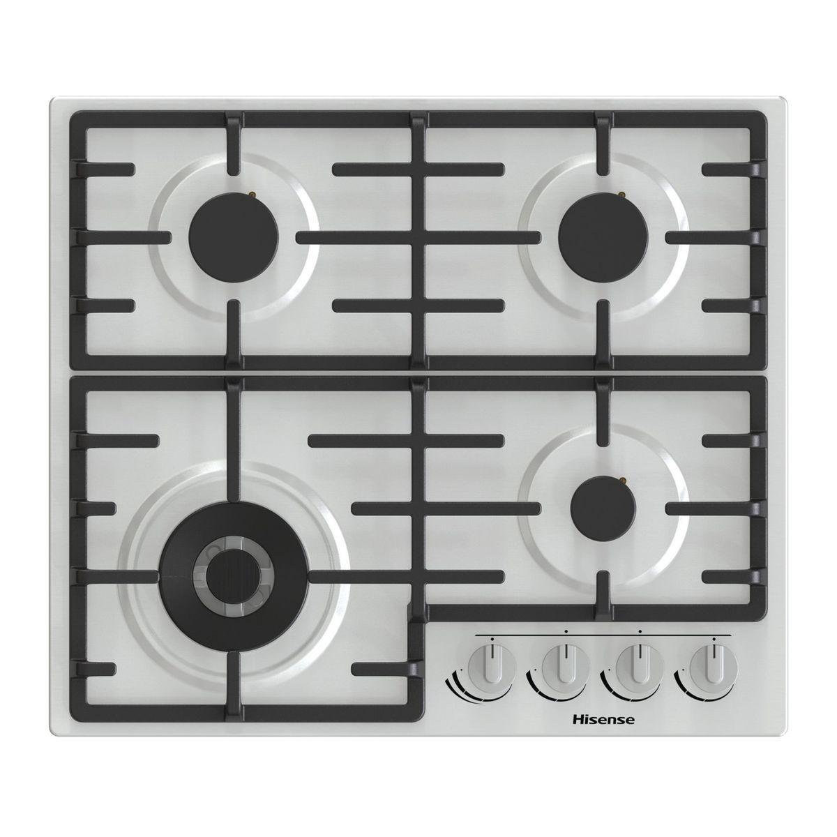 Table de cuisson à gaz GM663X, 60 cm, 4 foyers