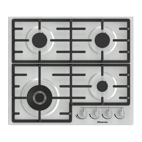 HISENSE Table de cuisson à gaz GM663X, 60 cm, 4 foyers