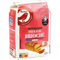 AUCHAN Farine boulangère sans levure pour pain brioché 1kg